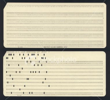 punch cards for listing information. can be used for human resource management…