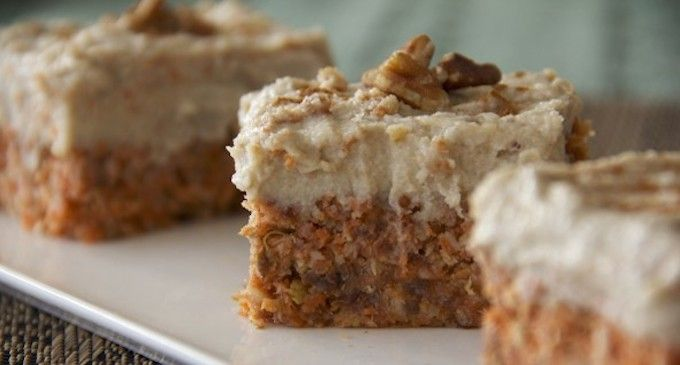 For the carrot cake: 2 cups carrot pulp 1/2 cup pecans, soaked 6+ hours, drained…
