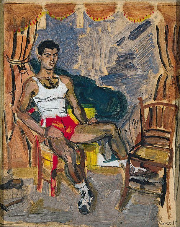 Τσαρούχης Γιάννης-Παίκτης του μπάσκετ, 1949 – Yannis Tsarouchis [1910-1989]   paletaart – Χρώμα & Φώς