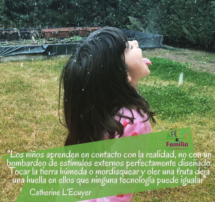 Los niños aprenden mediante la experimentación directa. Catherine L'Ecuyer