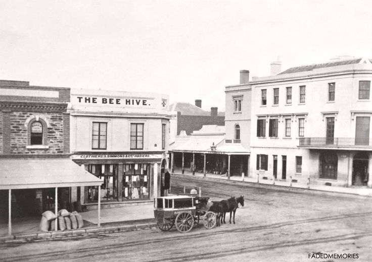 A very early picture of The Beehive Corner Rundle Mall South Australia.
