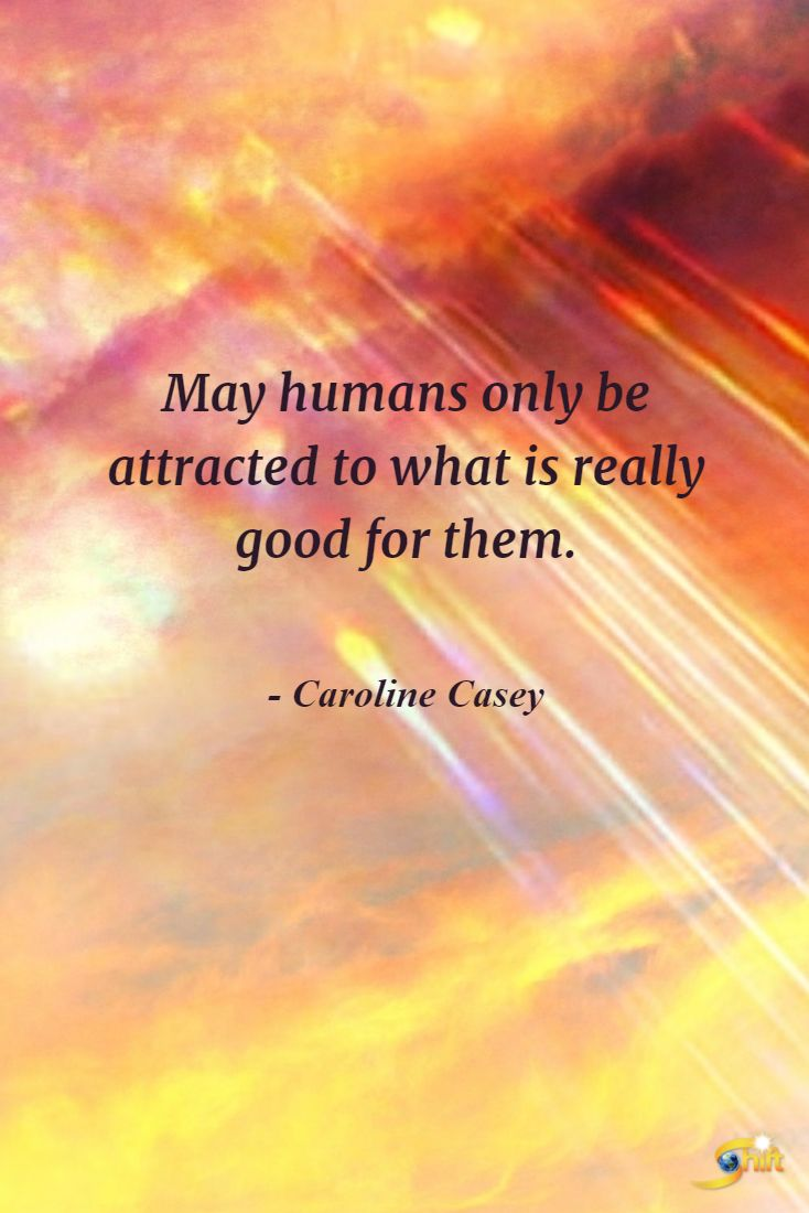 """""""May humans only be attracted to what is really good for them."""" - Caroline Casey  http://theshiftnetwork.com/?utm_source=pinterest&utm_medium=social&utm_campaign=quote"""