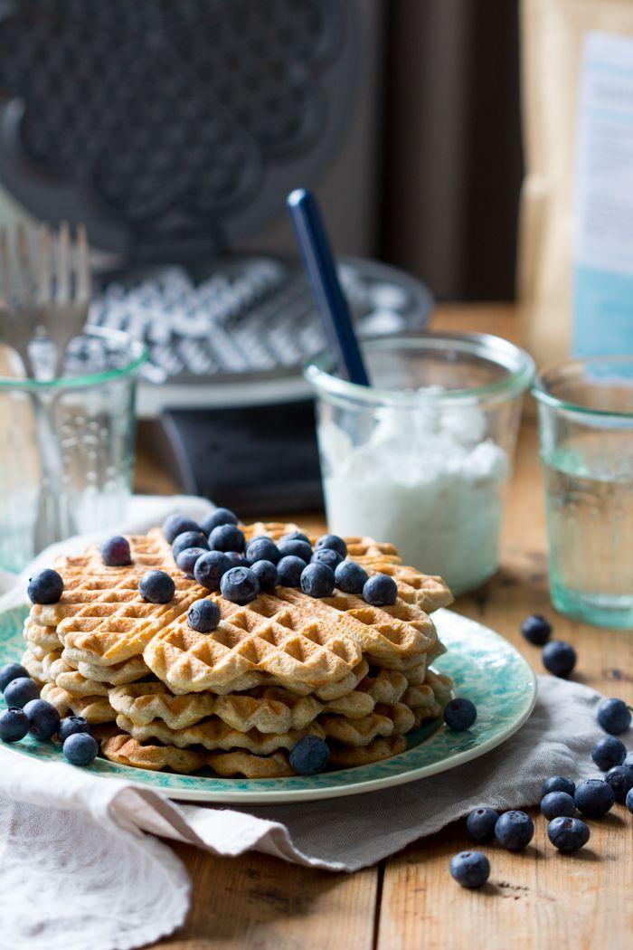 Wafels van bakbananenmeel gemaakt door EetPaleo | Femke's Foodies - glutenvrij, lactosevrij, paleo, plantainflour, glutenfree, lactosefree, waffles