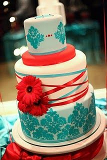 teal and red wedding cake wedding photography tips