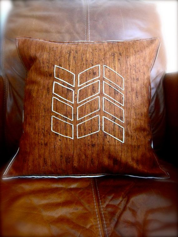 Geometric aztec handmade embroidered pillow by RainsEmporium, £19.99