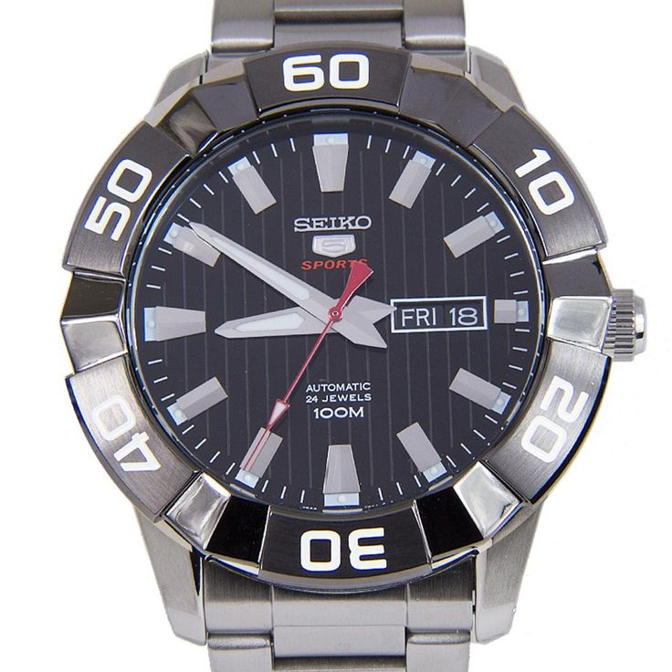 Chronograph-Divers.com - Seiko 5 Sports Automatic Silver Tone Stainless Steel Bracelet Day Date Gents Watch SRPA55K SRPA55, $176.00 (http://www.chronograph-divers.com/seiko-5-sports-automatic-silver-tone-stainless-steel-bracelet-day-date-gents-watch-srpa55k-srpa55/)