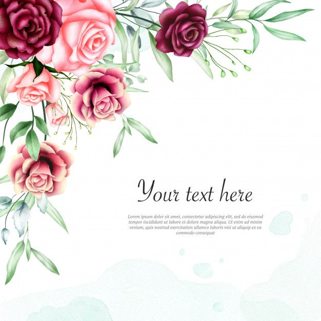 Beautiful Watercolor Floral Frame Background In 2020 Floral