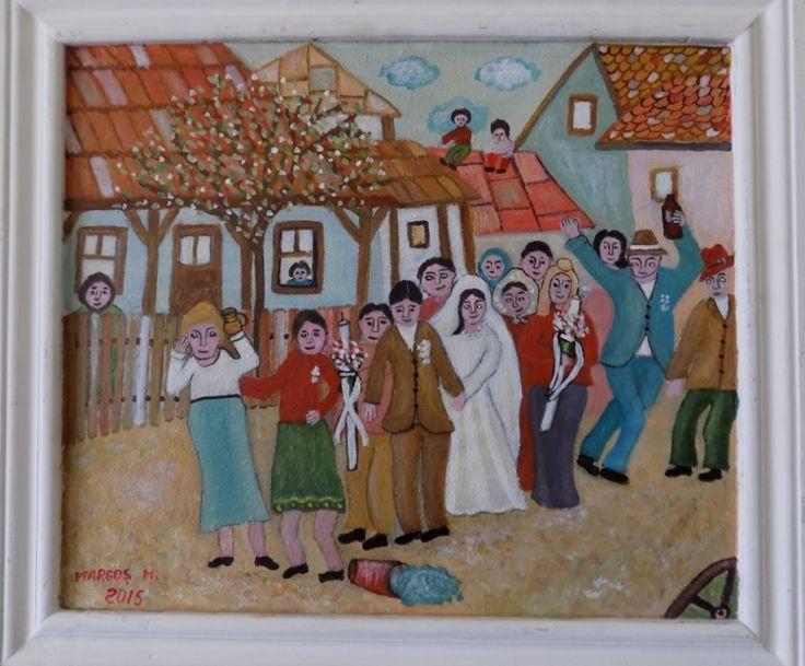 Pictura naiva | Alai de nunta, ulei/panza | Boutiq Art