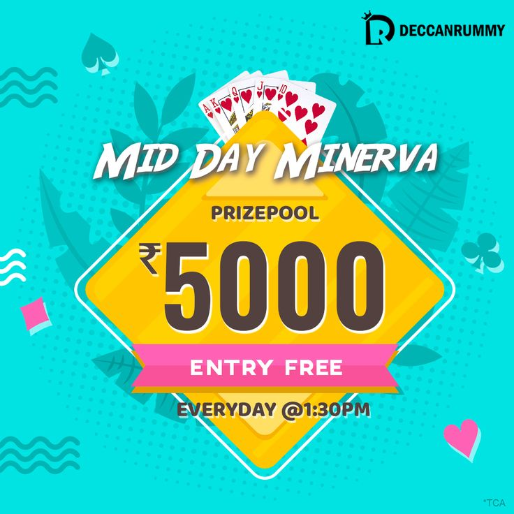 Mid Day Minerva in 2020 Rummy, Rummy card game, Rummy game