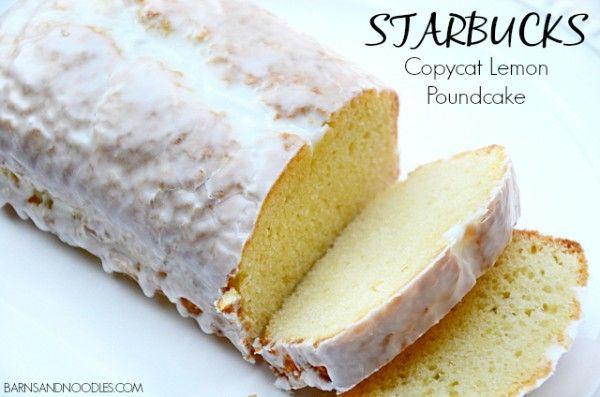 Copycat Starbucks Lemon Pound Cake