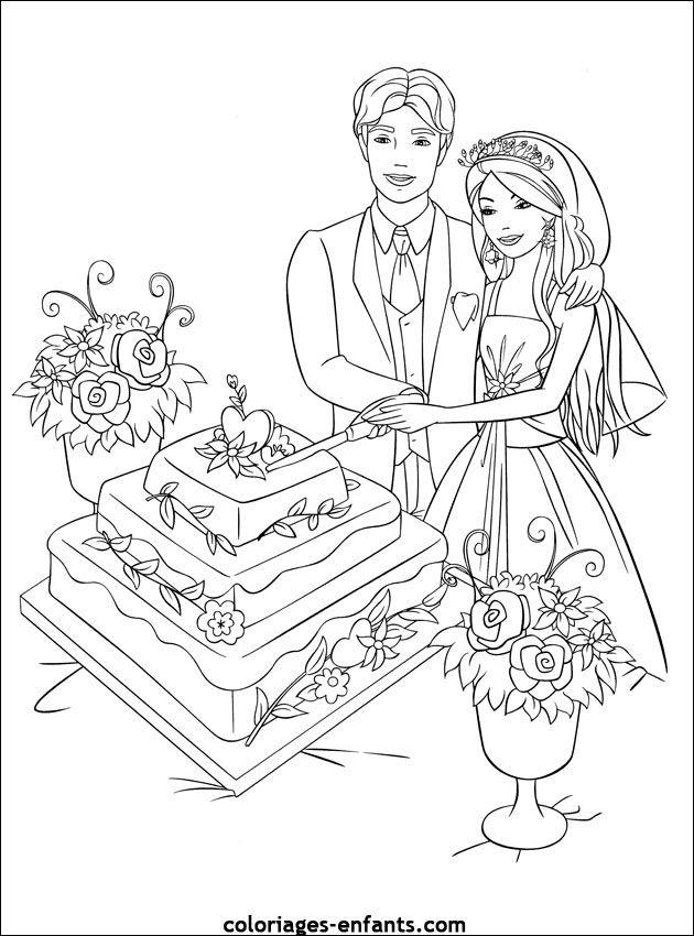 Coloriage de mariage à imprimer sur coloriages-enfants.com http://yesidomariage.com - Conseils sur le blog de mariage