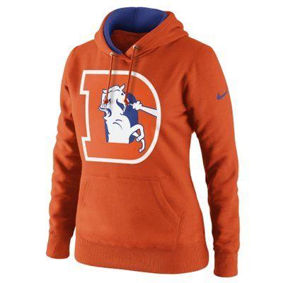 Nike Denver Broncos Women's Retro Tailgater Hoodie - Orange