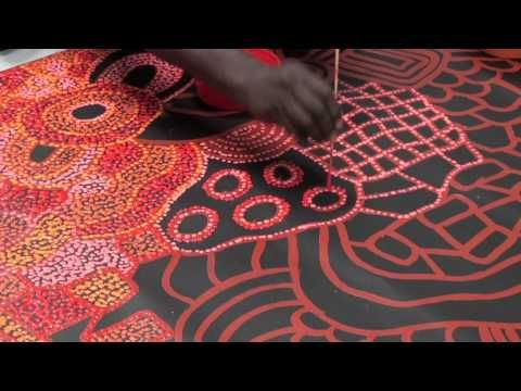 Aboriginal Artist Nellie Marks Nakamarra 1017 - YouTube good intro for HS, includes culture, and abstraction with pattern, texture and line!