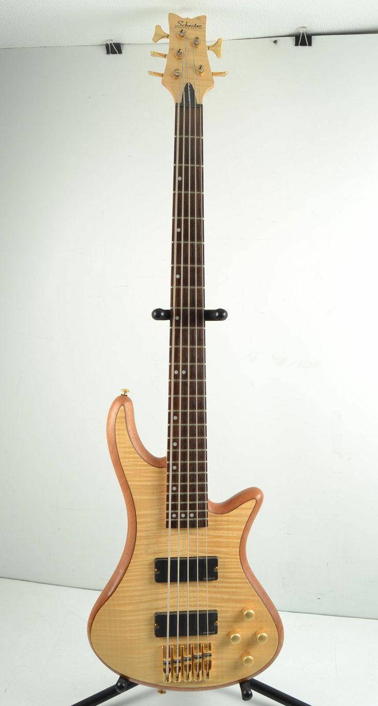 schecter custom 5 electric bass guitar 5 string emg hz nice rock bass guitars pinterest. Black Bedroom Furniture Sets. Home Design Ideas