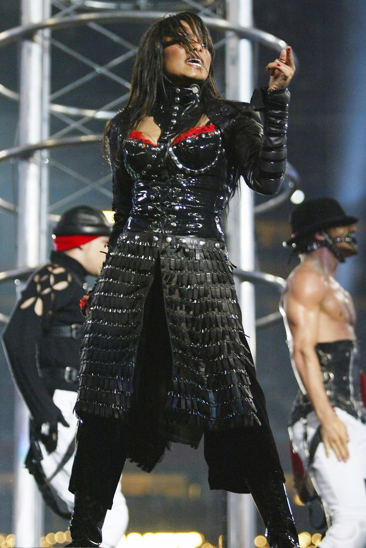 The Best Costumes from Super Bowl Halftime Performances - Janet Jackson, 2004  - from InStyle.com