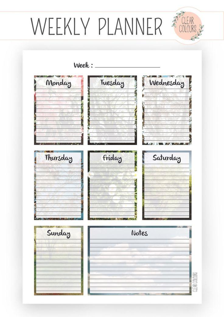 119 best Weekly Planner images on Pinterest Free printables - weekly agenda