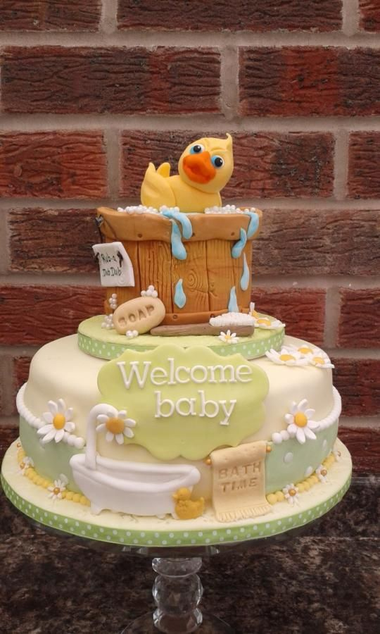 Rubber Duckie Baby Shower Cake   Cake By Karen Flude
