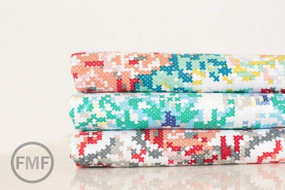Fat Quarter Bundle Hipster Cross Stitch, Shannon Lamden, Riley Blake Designs,