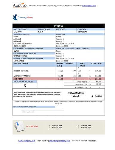 proforma invoice template doc