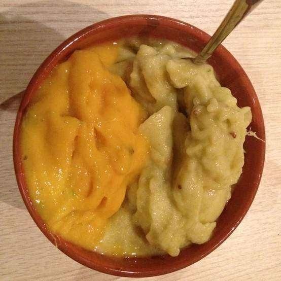 Fresh Homemade Mango, Feijoa And Banana Sorbet... Mmmmm