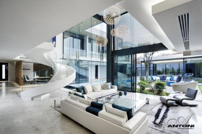 Exquisitely Designed Residence By Saota Mansion Living Mansion Living Room Modern Mansion Interior
