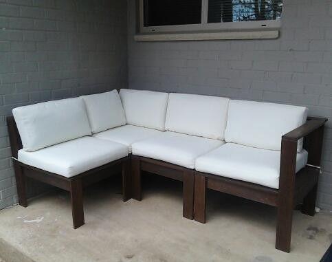 Simple Modern Outdoor Sectional DIY Outdoor Furniture Tutorials Pinterest