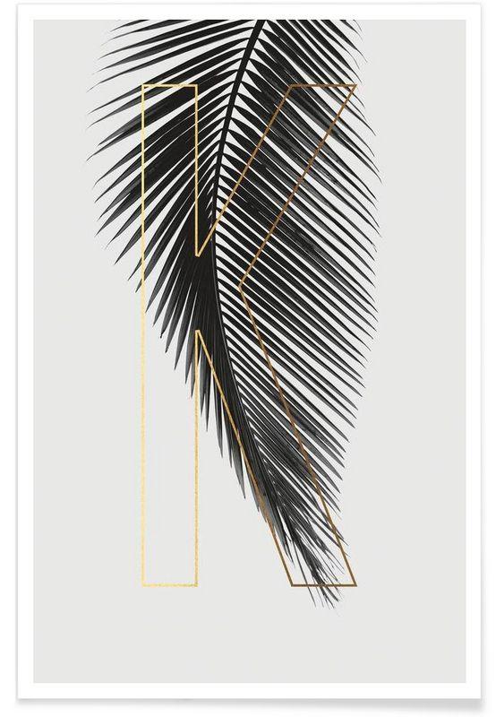 Plants K als Premium Poster von typealive | JUNIQE