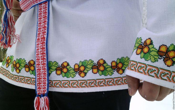 Купить Рубаха Обережная - белый, русский стиль, славянский стиль, русская рубаха, русская одежда