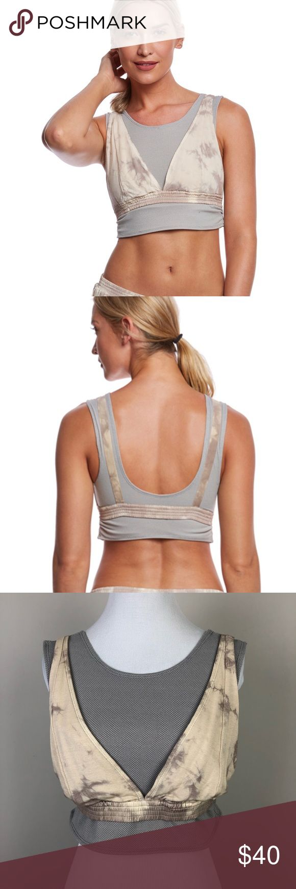 "Free People | Movement Oasis Camisole Bra Top New Cropped athletic bra top. Layered look. Great for yoga, pilates, barre, ballet, dance, etc. Peach combo.  ▪️Pit to Pit: 15"" ▪️Length: 14"" ▪️Condition: NWT. New.   ▫️HH51 Free People Tops Crop Tops"
