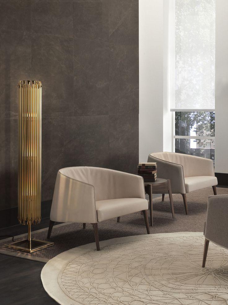 New Matheny  | floor lamp, vintage, gold   @delightfull