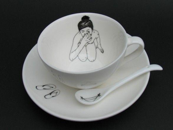 Bathing Girls Tea Set - Esther Horchner Tea Cup Set - Dutch By Design