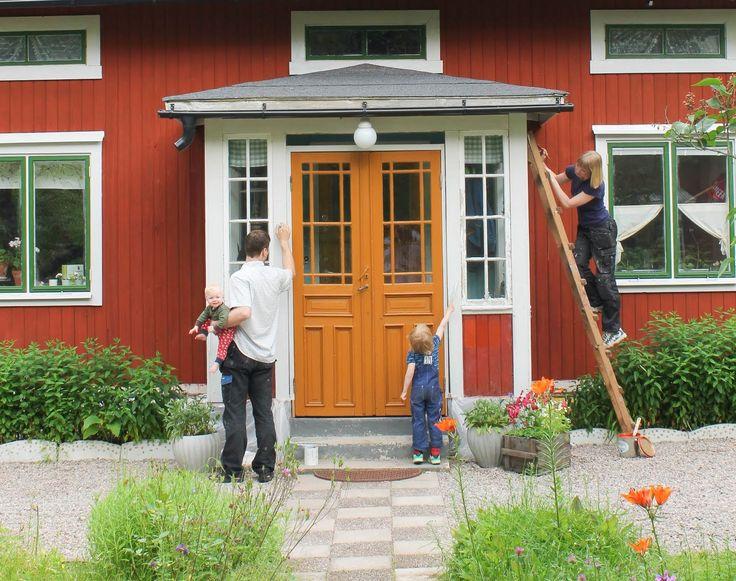 Småbarn och husrestaurering