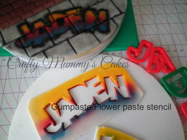 Quick and easy stencil for airbrushing Graffiti - CakesDecor