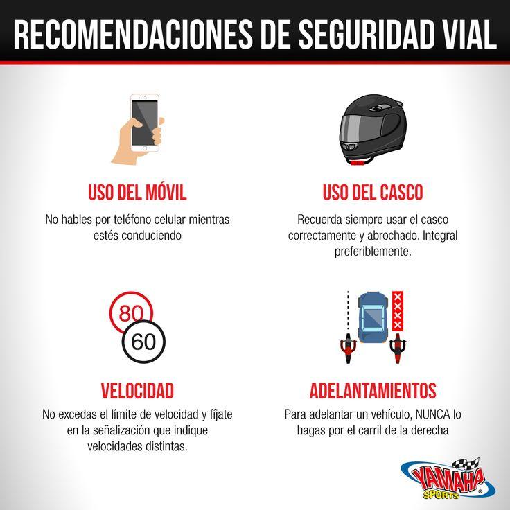 Cosas que debes hacer y NO hacer para mantenerte seguro en la vía. #SeguridadVial #Yamaha