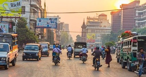 Streets in the center of Mandalay | Myanmar