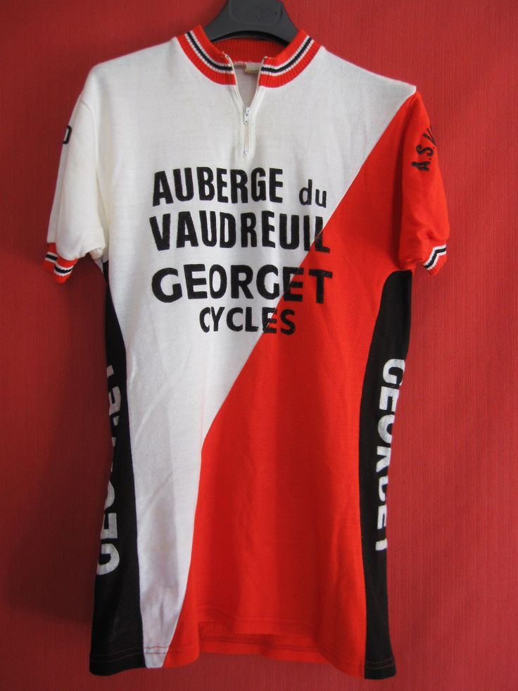 Maillot Cycliste Vintage Auberge DU Vaudreuil ASV Georget Cycles BE M | eBay