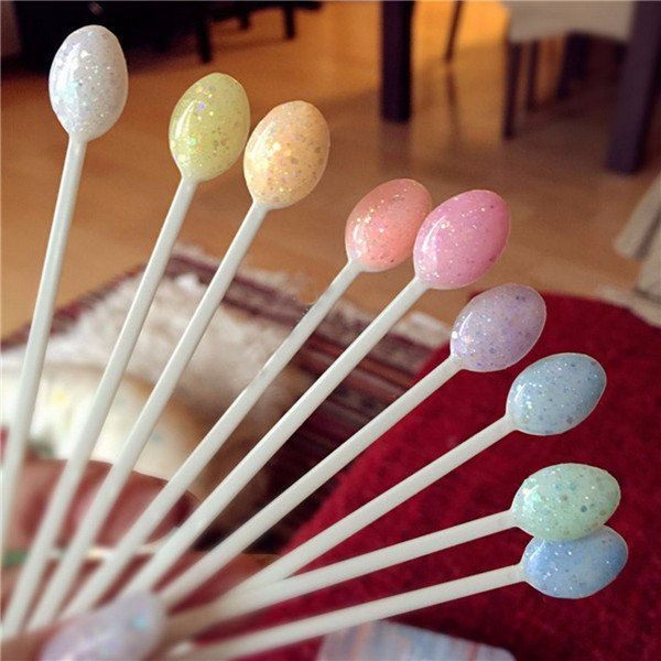 100pcs Spoon-shaped Nail Art UV Polish Display Color Chart Card DIY Design Practice Tool