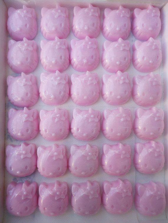 HELLO KITTY SOAPS  Baby Shower Soaps  Handmade by StarSoapsbyIvana