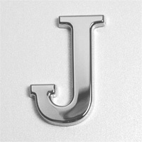 'J' chrome Plated letter....for your CAR!!
