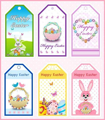 FREE Printable Easter Gift Tags - my-free-printable-cards.com