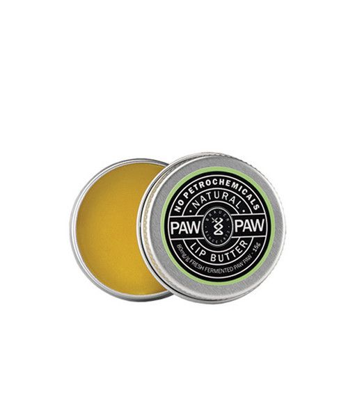 Paw Paw 15g Tin- Paw Paw Lip Butter's natural formula is rich in Paw Paw with the added nourishment of Shea Butter,  Honey, Vitamin E and Grapeseed Oil to moisturise and protect lips, leaving them luxuriously soft. The petrochemical-free formula is gentle on sensitive lips and is ideal to use by itself, as well as under or over lipstick.