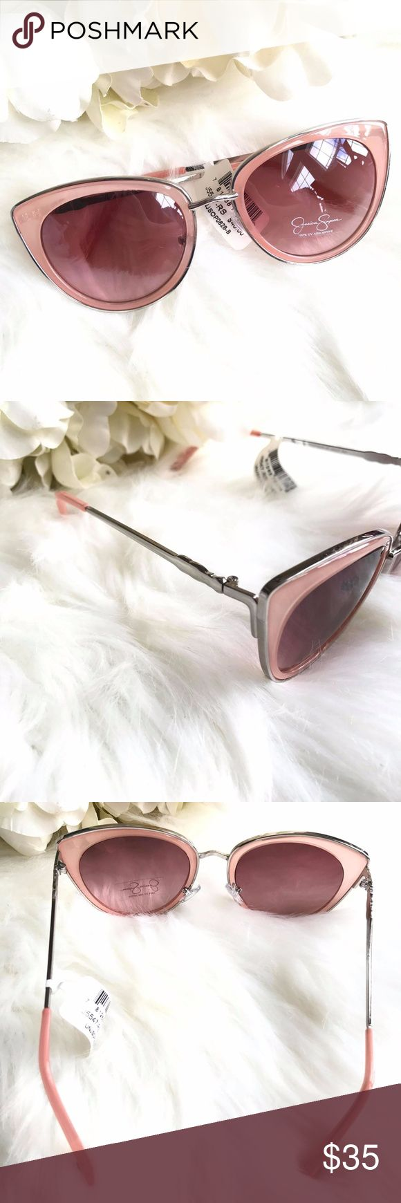 Jessica Simpson Pink Semi Cat Eye Sunglasses Brand New with Tag Jessica Simpson Pink Semi Cat Eye Sunglasses Retail $40.00 15% off 3 or more Items! Bundle up and save!No Trades please Reasonable offers are welcome. *Christian J. -Posh Ambassador;Posh Compliant *800+ Items listed, check out and shop! Jessica Simpson Accessories Sunglasses