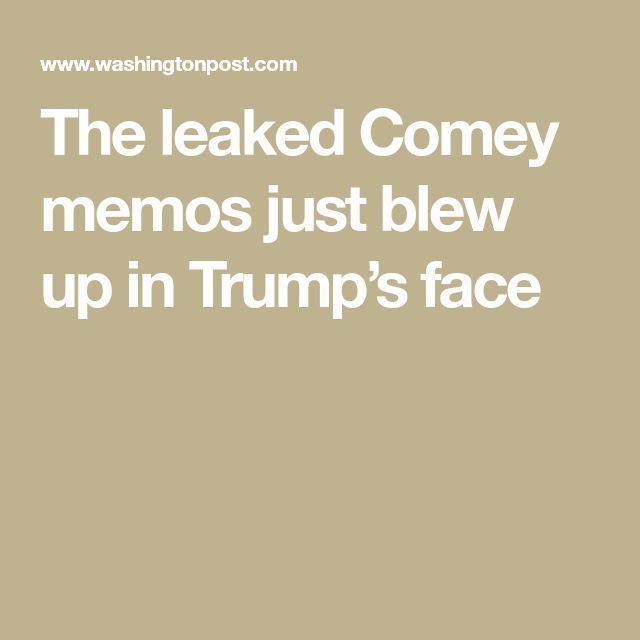 "The leaked Comey memos just blew up in Trump's face - Trump is a delusional bastard who has lied, cheated, is immoral, no character , crass and crude - in short a real arch slime-ball. Absolutely reflects a nation captured by like and financed by vested interests.  ""A BULLYING COT CASE""!"
