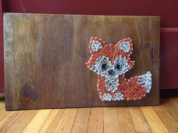 Baby fox string art by InspiredCreationsJKC on Etsy