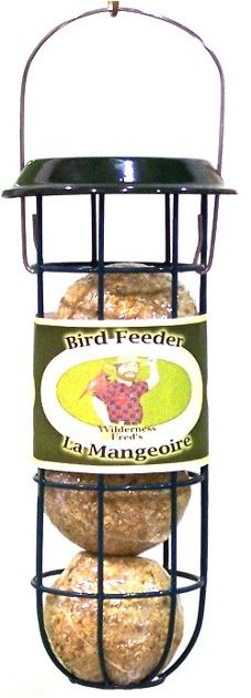 BLFR   Metal Suet Ball feeder    Suet Ball Feeder- Holds 3 suet balls, all metal design, can be used for corn cobs or nesting material too!