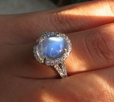 Moonstone and Diamond Ring - Image by star sparkle