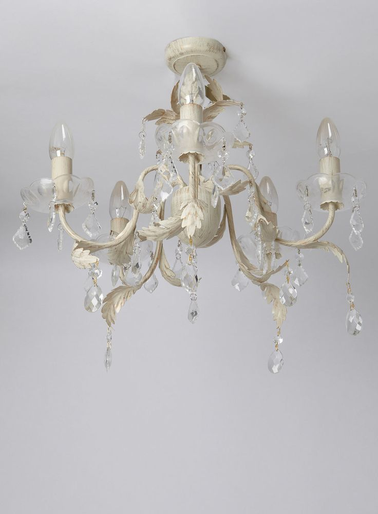 Juliette 5 Light Flush Fitting Chandelier - Ceiling Lights - Home, Lighting  u0026 Furniture -