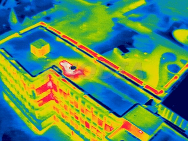 a general infrared inspection - but this is the only drone. Then you make contact with the house or building owner to undertake an in-depth inspection.
