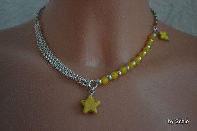 Kette mit Stern und Polaris Perlen von Design-by-Schio auf DaWanda.com