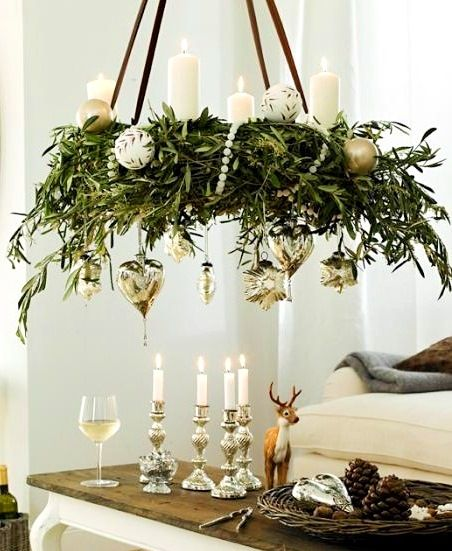 Decorating Ideas > Bayberry Wreath Chandelier Christmas Decoration Ideas  ~ 035752_Christmas Decorations Ideas For Chandeliers